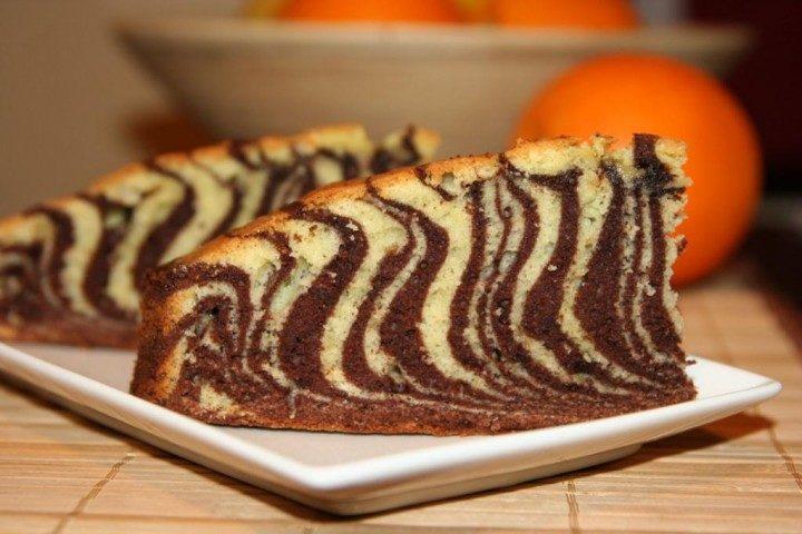 Как приготовить тортик зебра